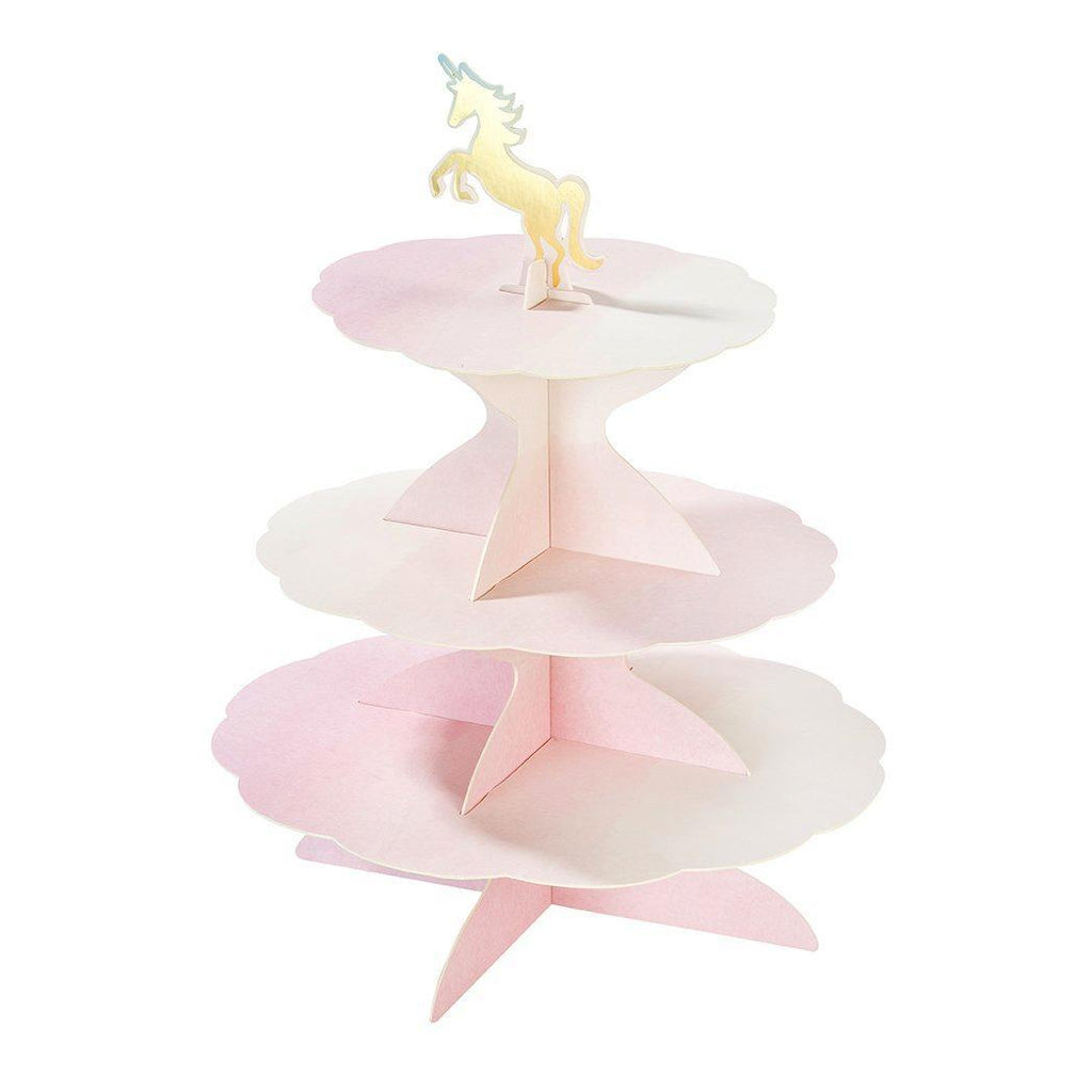 Stand Reversible de 3 Pisos Colores Pasteles con 4 Toppers - 1 pza Displays Talking Tables