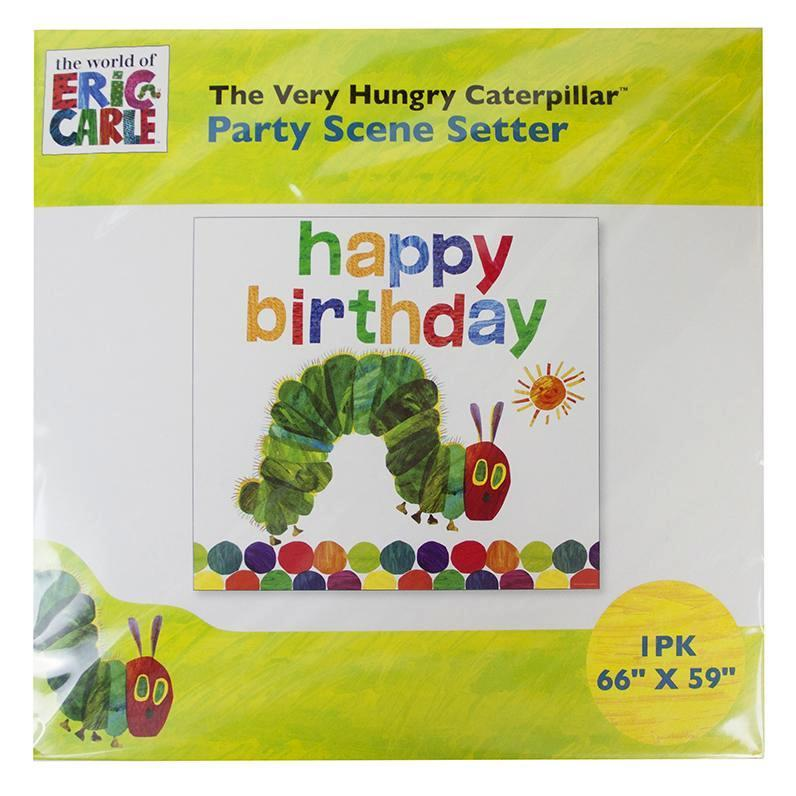 Banner Gigante The Very Hungry Caterpillar - 1 pza Guirnaldas Talking Tables