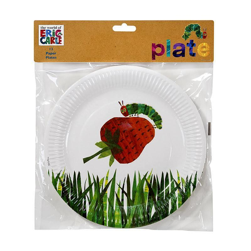 Plato Grande The Very Hungry Caterpillar - 12 pzas Platos Talking Tables