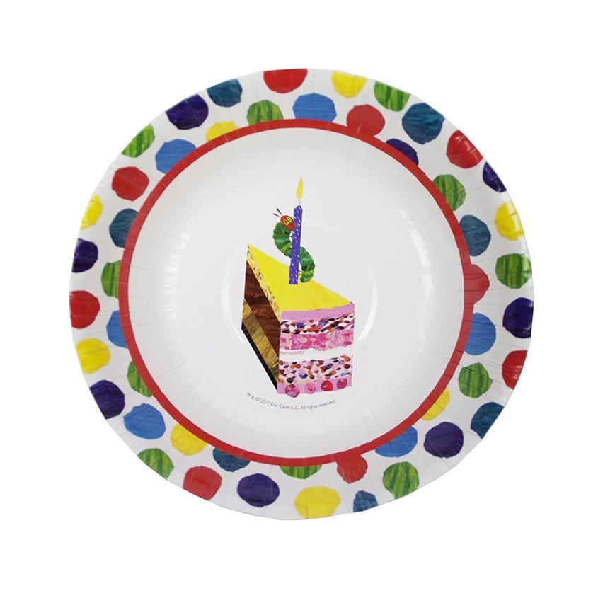 Plato Hondo The Very Hungry Caterpillar - 12 pzas Platos Talking Tables