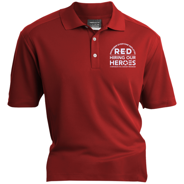 RED Hiring Our Heroes Nike® Dri-Fit Polo Shirt