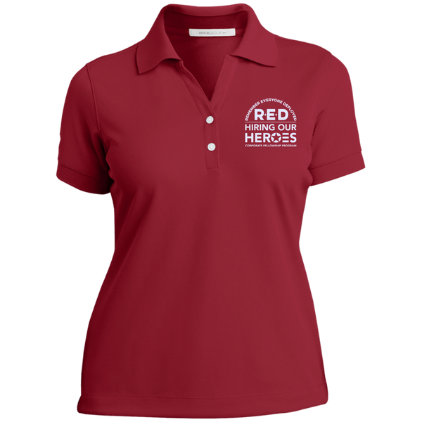 RED Hiring Our Heroes Ladies Nike® Dri-Fit Polo Shirt