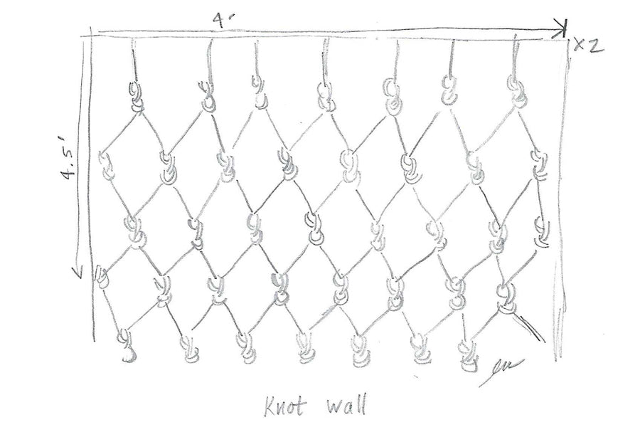 How to Tie a Knot Wall Sketch