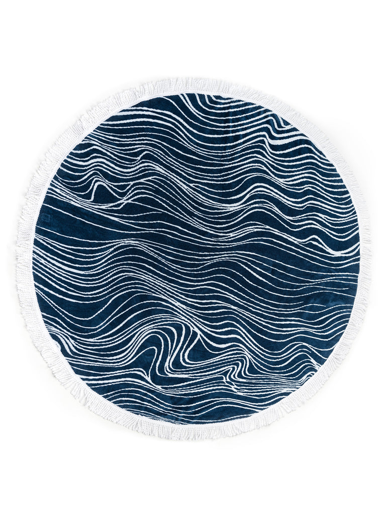 Luxury Round Beach Towel by Elyse Maguire Designer Accessories