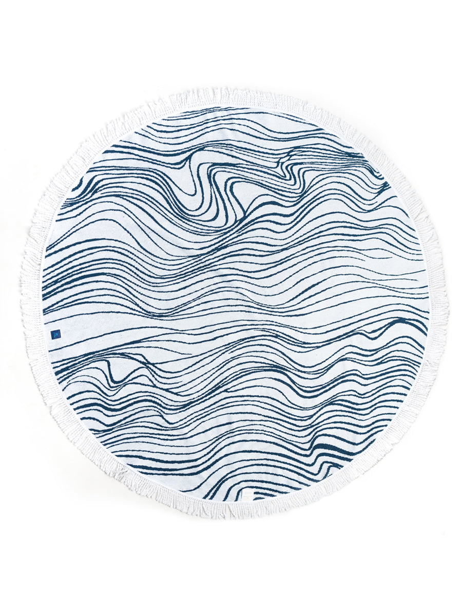 Lux Round Beach Towel by Elyse Maguire Designer Accessories