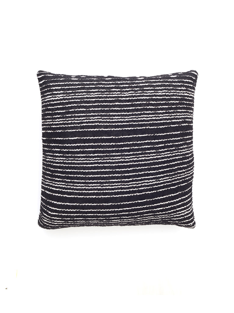 Knit Alpaca Pillow Cover - Black