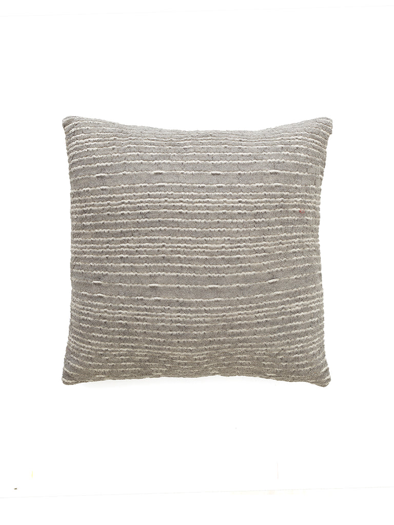 Knit Alpaca Pillow Cover - Cedar Grey