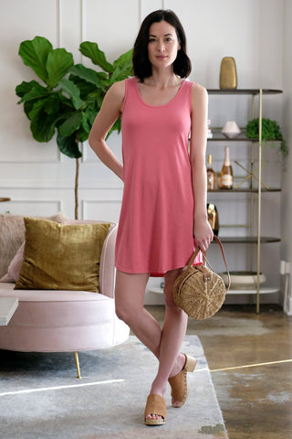 Crossover Front T-Shirt Dress