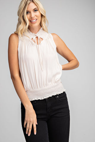 Long Sleeve Top with Tie Front