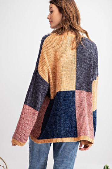 Color Block My World Sweater