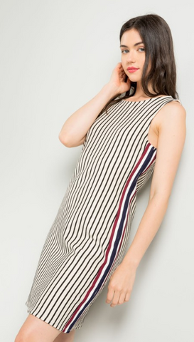 Newsprint Safari Dress