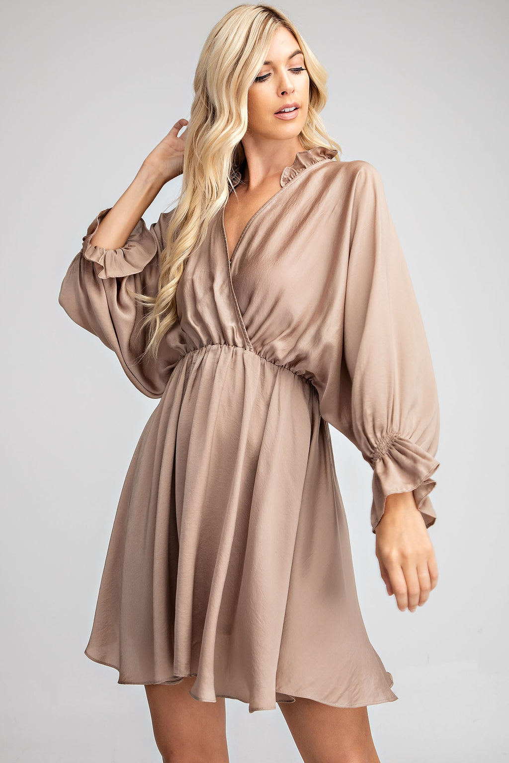 Ruffle Surplice Dress