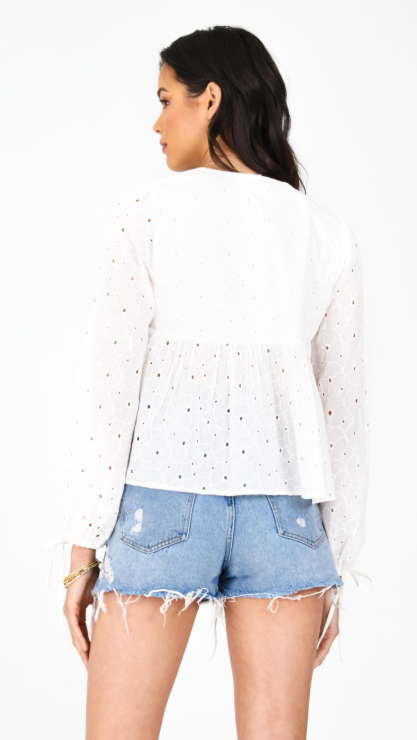All Eyes On You Peasant Top