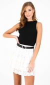 All Eyes On You Ruffle Skirt