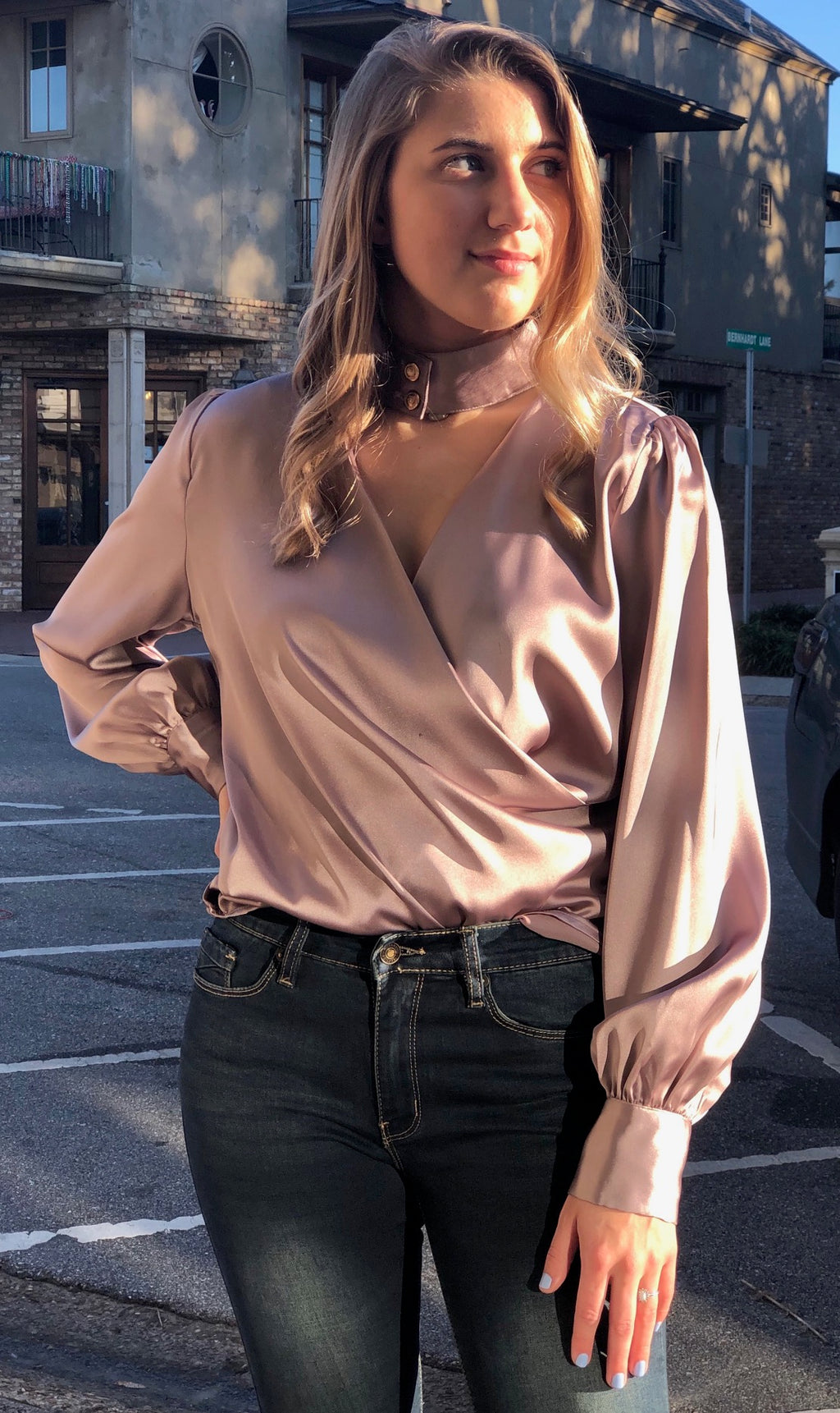Open Choker Blouse