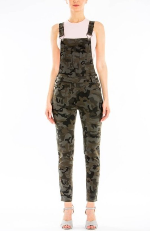 High Rise Skinny Overalls