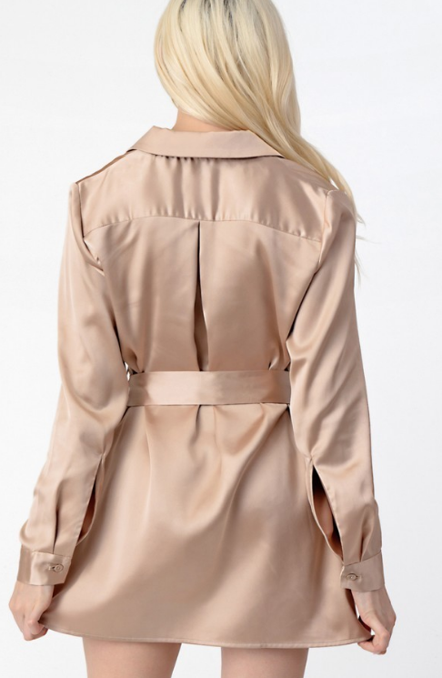 Trench Satin Dress