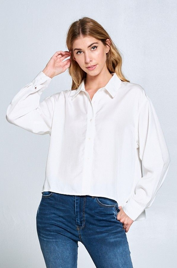 Hi-Low Work Blouse