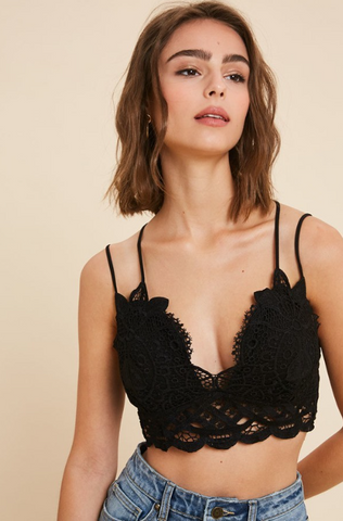 Double Strapped Scalloped Lace Bralette