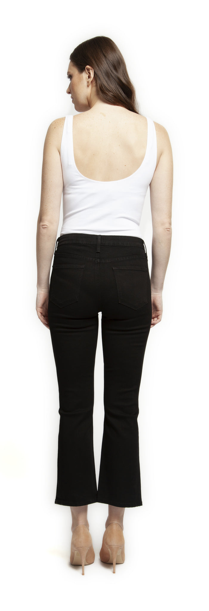 Cropped Front Split Jeans