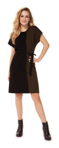 Self Belted Asymmetric Dress