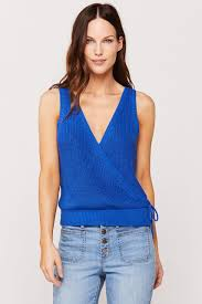 Josslyn surplise knit top