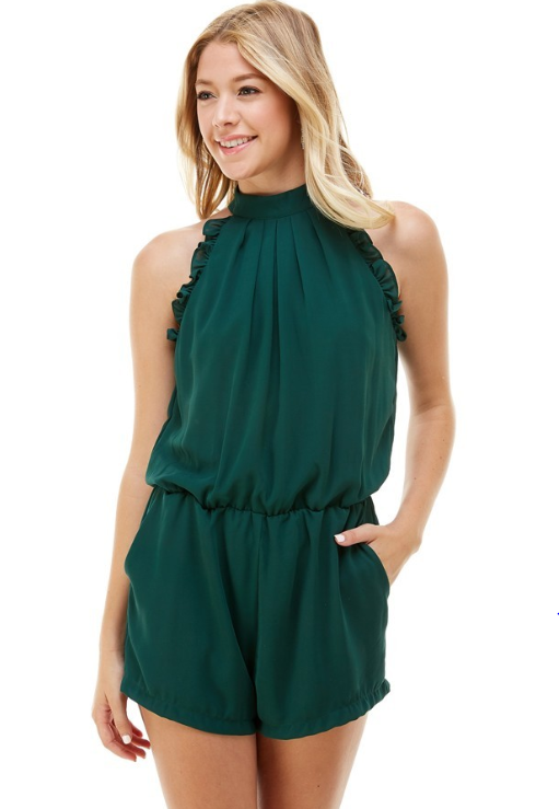 Mock Neck Romper