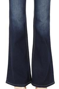 Dark Wash Flared Denim Jeans