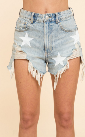 Legs Bare, Don't Care Denim Shorts