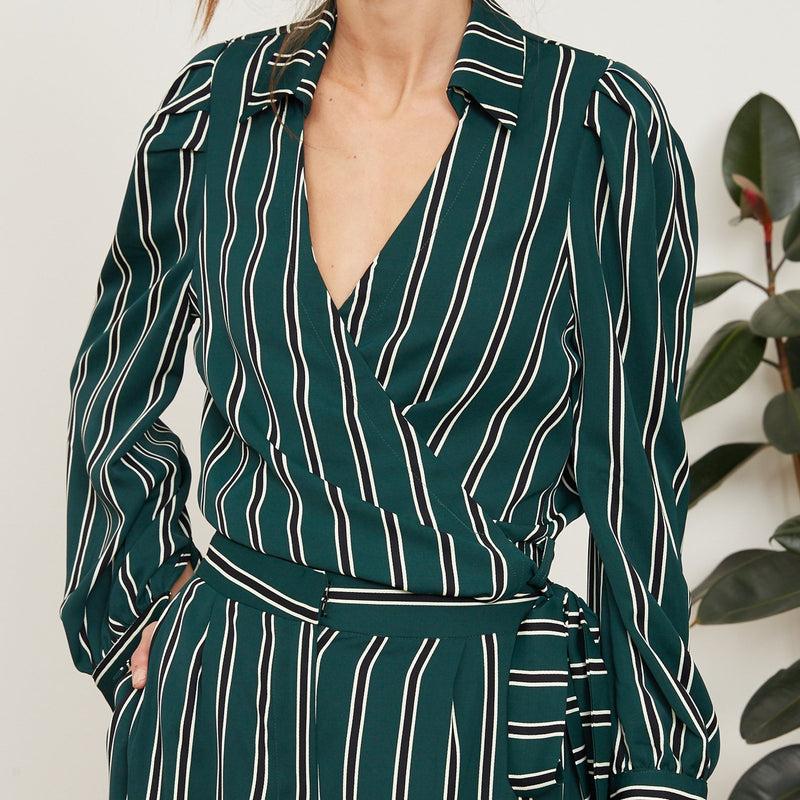 Lola Striped Collared Top