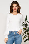 Off Shoulder Cropped Top with Bell Sleeves
