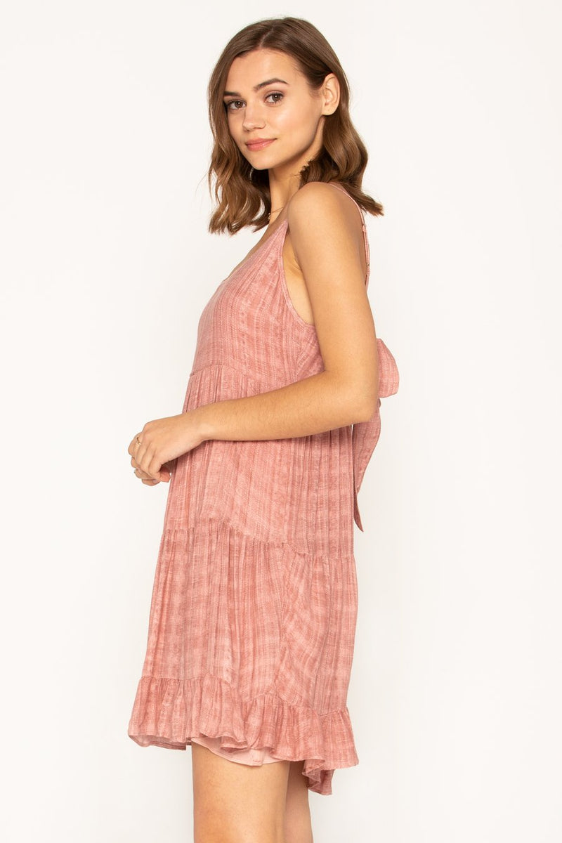Jacquard Tie-Back Cami Dress