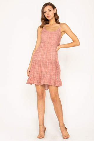 Ruffle Cap Sleeve Dress
