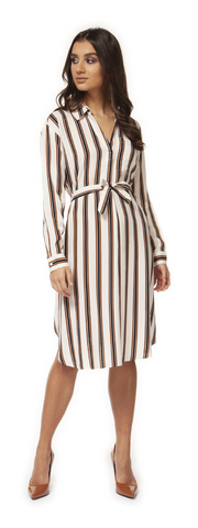 Luna Striped Midi Dress