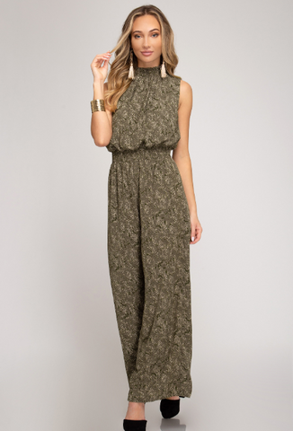 Flora Military Jumpsuit