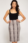 Pop the Champagne Midi Skirt