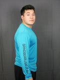 Atomic Blue Long Sleeve Performance Shirt