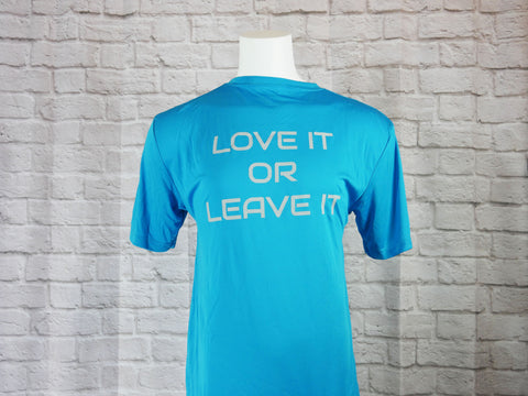 Atomic Blue Performance Shirt (Love it or Leave it)