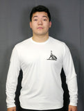 White Long Sleeve Performance Shirt