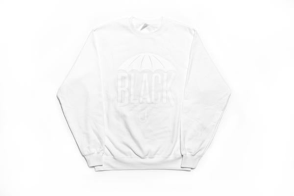 Black Umbrella White Crewneck