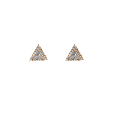 All That Glitters Triangle Earrings