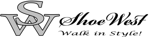 Logo Shoe West, Walk in Style! www.shoewest.com