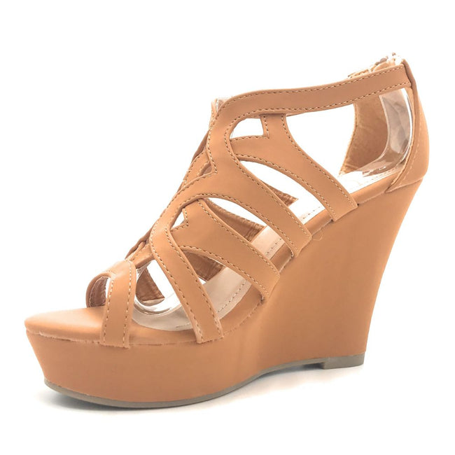 ANNA Paso-1 Tan Color Heels Shoes for Women