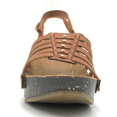 Anna Vanilla-1 Tan Color Wedge Shoes for Women