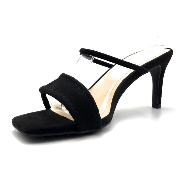 Anne Michelle Always-02 Black Color Heels Right Side View, Women Shoes