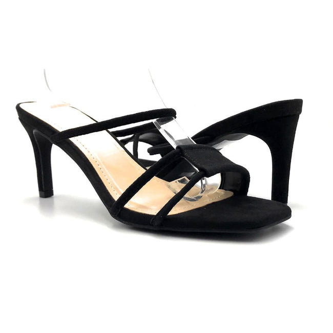 Anne Michelle Always-02 Black Color Heels Both Shoes together, Women Shoes
