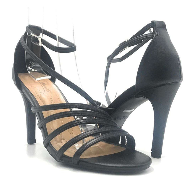 Anne Michelle Blaze-08M Black Color Heels Shoes for Women