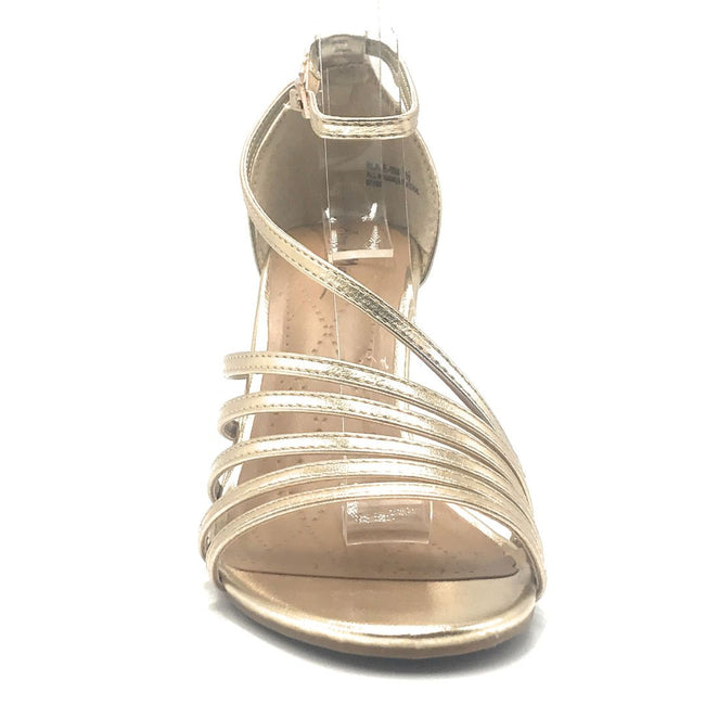 Anne Michelle Blaze-08M Gold Color Heels Shoes for Women