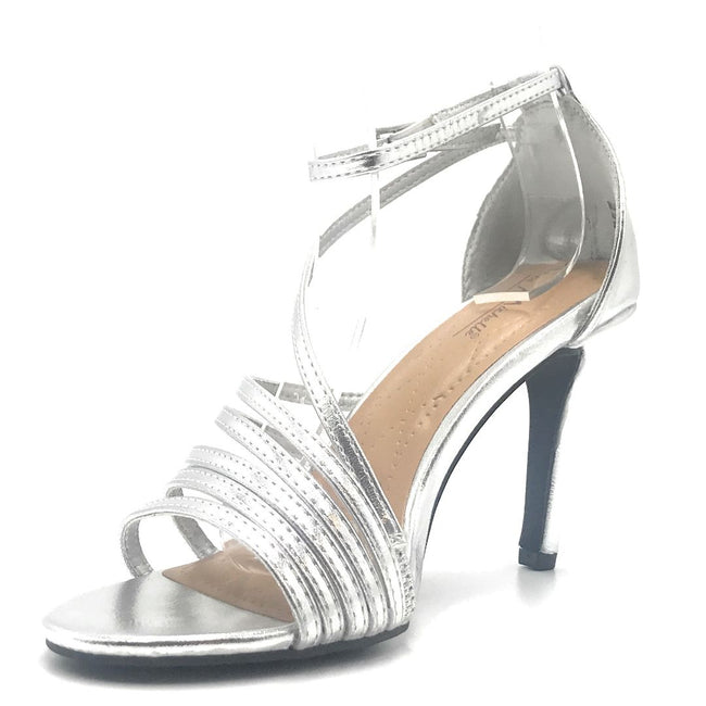 Anne Michelle Blaze-08M Silver Color Heels Shoes for Women