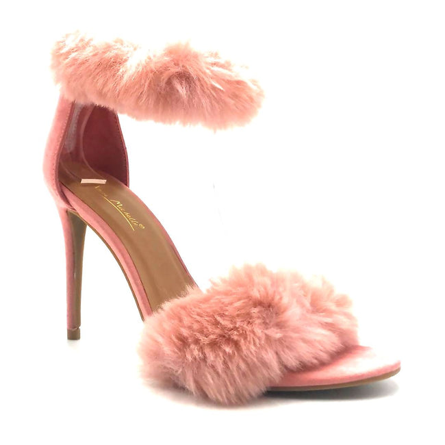 Anne Michelle Dashing-47 Blush Color Heels Right Side View, Women Shoes